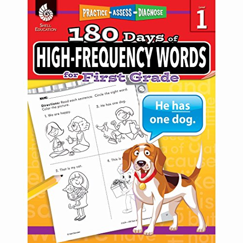 180 Days of High-Frequency Words for First Grade: Practice, Assess, Diagnose (180 Days of Practice)