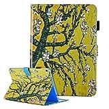 iPad Mini 1/2/3/4 Hülle Leder Cover Ultradünn Tablet Schutzhülle [Auto Aufwachen/Schlaf Funktion] Magnetisch Flip Case für Apple iPad Mini 1/2/3/4 Ledertasche mit Ständer - Baum