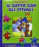 Scarica Libro Il gatto con gli stivali Finestrelle in puzzle Ediz illustrata (PDF,EPUB,MOBI) Online Italiano Gratis