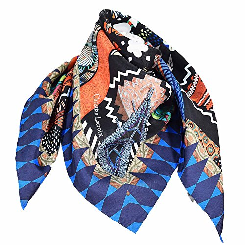 christian-lacroix-silk-scarf-black-love-blue