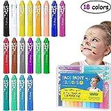 TOYMYTOY Körper Malen Buntstifte Gesichtsfarbe Buntstifte Kits Malerei Sticks Set Waschbar 18 Farben Stifte für Make-up Körper Malerei