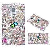 Evtech(tm) Bling Bling Coeur strass en cristal de diamant papillon Floral Crwon Glitter Fashion Style Lucency Retour Housse de téléphone portable pour Iphone 6/iPhone 6s 4.7Inch (Not For Iphone 6 Plus) (100% artisanale)