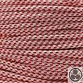 Textilkabel Stoffkabel rot , 3-adrig rund , 3x0,75