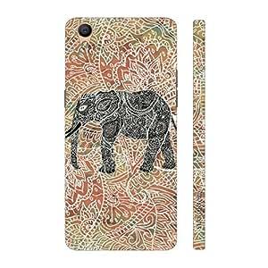 Enthopia Designer Hardshell Case Elephant Art 2.5 Back Cover for Oppo R9