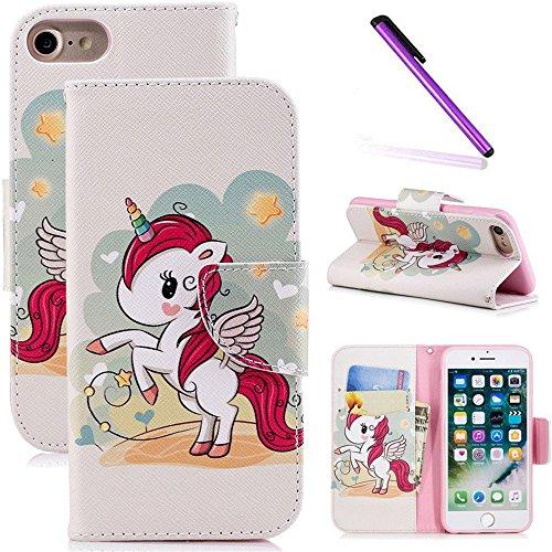 0f422dd4ecc COTDINFOR iPhone 6S + Funda Precioso Animales Impresión Patrón Suave PU  Cuero Cierre Magnético Billetera con