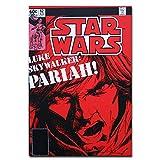Micro Gorilla Star Wars Comics Carte Postale Authentique avec Cadre Luke Skywalker Pariah C3PO R2-D2 Cadeau Drôle