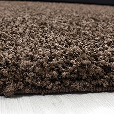 Small - Extra Large Size Thick Modern Plain Non Shed Soft Shaggy Rug Rec & Round Weight Appr. 2600 Gr Deept 50 Mm Living Room Shaggy Rugs Suitable For Underfloor Heating Flokati Rugs - low-cost UK light shop.