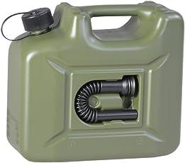 hünersdorff Kraftstoff-Kanister PROFI 10l für Benzin, Diesel und andere Gefahrgüter, UN-Zulassung, made in Germany, TÜV-geprüft, oliv