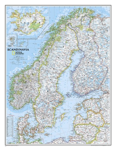 Scandinavia Classic Wall Maps Countries & Regions (Reference - Countries & Regions) par National Geographic Maps