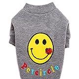 PETCIRCLE Pet Dog Shirt Clothes Smile Face Dog Shirts Warm Fleece Knit Wear Soft Sweater