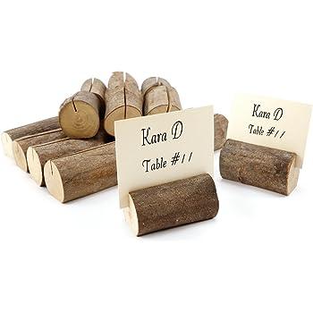 20 X Holz Holzsteg Tischkartenhalter Platzkartenhalter Kartenhalter
