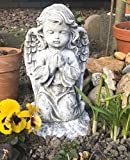 Steinfigur Engel kniend , massiver Steinguss, frost- und wetterfest bis -30°C
