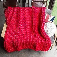 chunky knit manta tirada gigante mano tejida suave ganchillo manta grande mullida manta caliente por yunhigh