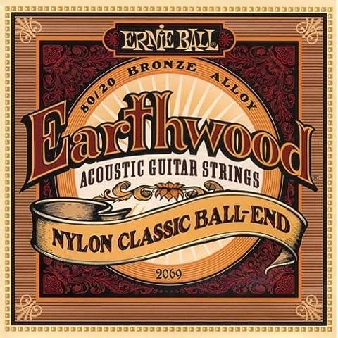 Ernie Ball 2069Earthwood corde di nylon Chitarra Acustica Classica Testa sferica