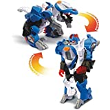VTech - Switch & Go Dinos - Lutor, Super Stégosaure - Buggy, Voiture/Dinosaure, Jouet Dinosaure - Version FR
