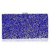 LWZY Abend clutch perlen geldbörse,Abendgesellschaft-handtaschen Für frauen hochzeit und party-Blau 5x12x22cm(2x5x9inch)