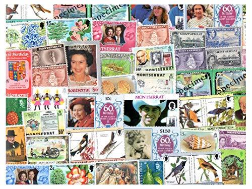 Pghstamps montserrat 500 francobolli differenti collezione per collezionisti