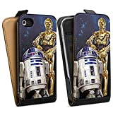 DeinDesign Apple iPhone 4 Tasche Hülle Flip Case Star Wars Merchandise Fanartikel Droids R2d2 C3po