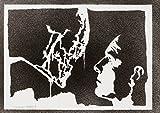 moreno-mata Alien Xenomorph und David Handmade Street Art - Artwork - Poster
