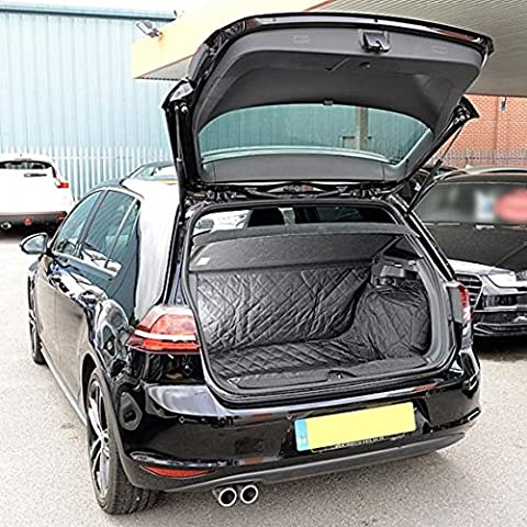 VW GOLF Mk7 hayon - SUR MESURE matelassé TAPIS DE COFFRE Tapis (BAS SOL ) 2013 a partir