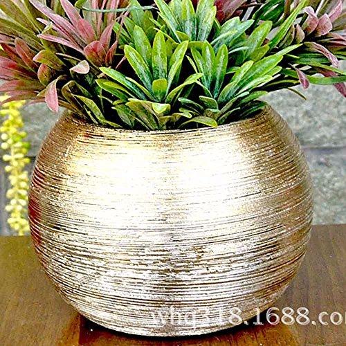 Palla di arredi retrò home decor disegno ceramica vaso di fiori,D'oro