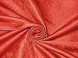 Seide Brokat Stoff rot Farbe 111,8cm -