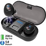 Bluetooth Kopfhörer in Ear,Fodlon Bluetooth Headset 5.0 Stereo Wireless Ohrhörer Sport Kabellose Minikopfhörer mit Portable Mini Ladekästchen und Integriertem Mikrofon