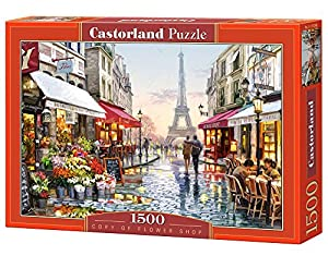 CASTORLAND Flower Shop 1500 pcs Puzzle - Rompecabezas (Puzzle Rompecabezas, Ciudad, Niños y Adultos, Niño/niña, 9 año(s), Interior)