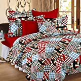 Story@Home 100% Cotton Double Bedsheet With 2 Pillow Covers Combo Set, Mercerized Finish - Metro Series, 186 TC, Checks (Multicolor)