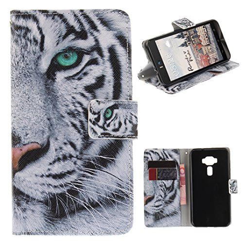 Zenfone 3 ZE520KL Cover, Custodia Zenfone 3 ZE520KL Portafoglio, Antiurto Resistente ai Graffi et a prova di polvere Shockproof Bookstyle Case Cover con Supporto Carta Solt Leather Wallet in Pelle PU