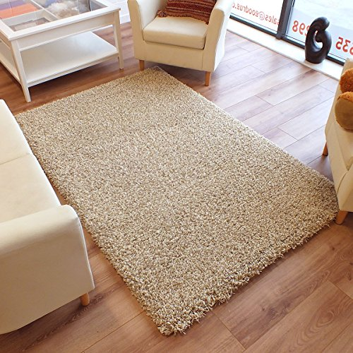 The Good Rug Company Twilight Dick Luxuriöser Shaggy Teppich beige Ivory Mix, beige, 2.0m x 2.0m (6'6 x 6'6 Approx) Square - Ivory Square Teppich