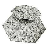 Angeln Regenschirm Doppelschicht Falten Mini Hut Sonnenschirm Getragen Auf Dem Kopf Sonne Schützen Carbon Materialien Für Männer Frauen Für Bauernhof Angeln Getriebe Zubehör ( Farbe : Blue coating )