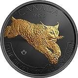 LYNX Luchs Golden Enigma 1 Oz Silber Münze 5$ Canada 2017