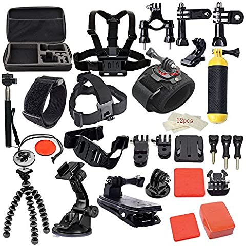 firststore 42-in-1 accessori Kit per Go Pro Gopro Hero 4 Session Hero 3 + 3 2 1 SJ4000 SJ5000 SJ6000 fotocamera sport