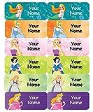 #9: Personalised Waterproof Labels - Princess Design - 36nos