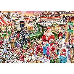 Calendario de adviento con diseño del tren de Papá Noel