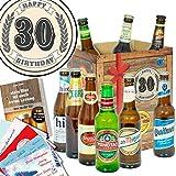 30. Geburtstag | Geschenkbox - Bier mit Bieren der Welt