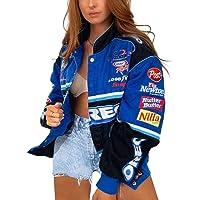 ORANDESIGNE Bomber Jacket Giacca Donna Giacca Sportiva Jackets Vintage Streetwear con Tasca Outwear Cerniera Giacca…