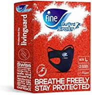 Fine Guard Sports Anti-Viral Face Mask, Olympian Endorsed, Running, Gym, Fitness, Yoga, Cycling [2 x Reusable