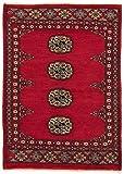 CarpetFine: Pakistan Buchara 2ply Teppich 61x91 Rot - Handgeknüpft - Ornament