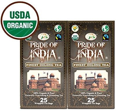 Thé Oolong digestif biologique, 25 boîtes de compte 2 paquets (50 sachets de thé