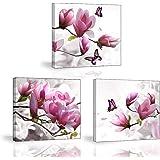 Piy Painting Impression sur Toile, Tableau de élégant Fleurs Orchidée, Tableau Moderne Tendue sur Châssis en Bois Prêt Suspen