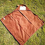SunnyGod Fashion Badwäsche Kinder AFFE gedruckt Baumwolle Handtuch Kapuzen Bademantel Decke Strand Badetuch Umhang Bademode