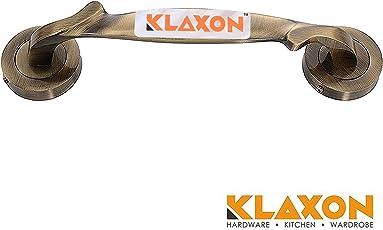 Klaxon Unique Brass Door Handle (Antique, Antique Finish)