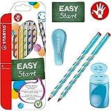 EASY-Starter-Set R3 blau mit Spitzer, Radierer, Bleistift, Buntstiften