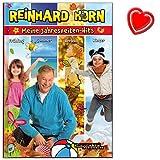 Meine Jahreszeiten-Hits - Songbook von Reinhard Horn - mit 62 Liedern durch das Kalenderjahr - zu vielen Liedern gibt es Spiel-, Bewegungs- und Tanzideen - Buch mit mit bunter herzförmiger Notenklammer