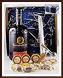 Geschenk Bunnahabhain Whisky 12 Jahre mit Flaschenportionierer + 10 Edel Schokoladen von DreiMeister/DaJa + 4 Whisky Fudge, kostenloser Versand