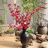 Soie Artificielle Faux Fleurs Plum Blossom Floral Bouquet De Mariage Party Decor...