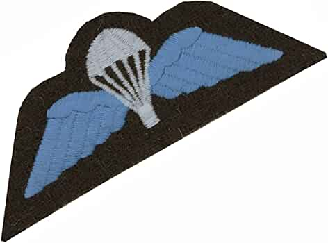 Airborne Para Wings Flash TRF Military Cloth Patch Blue and Black