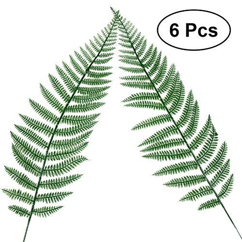 luoem Fake Faux Künstliche Kiefer Blätter grün einzelnes Blatt grün für Home Kitchen Party Dekorationen Handarbeit–6Stück